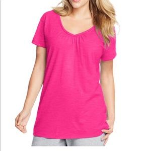 St Johns Bay hot pink plus size top